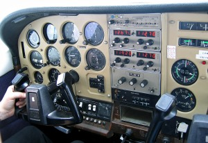 Cessna flight instruments.