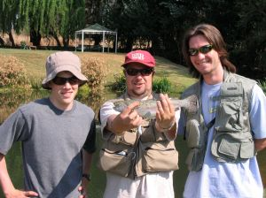 My son (left) with his instructor (center) on the West Rand