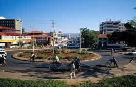 A Kisumu roundabout.