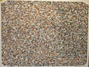 A collage of 9/11 victims' faces.
