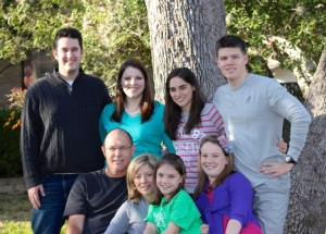 Our family, including newly grafted son-in-law